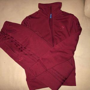 Adidas Maroon Set
